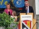 Begrüßung durch Bürgermeister Rainer Barth. Danke an Frau Helga Zankel als zweite Vorsitzende des Gemischten Chors Moischeid (im Bild links).
